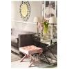 Tapicerowana pufa pikowana w stylu glamour welur Ricardia