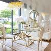 Golden table CONRAD GOLD glamor, glass, steel,