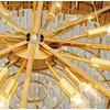 Żyrandol okrągły złoty z kryształami EMPIRE XL