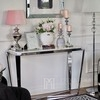 Silver glamor console with marble top RALPH