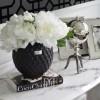 LENE BJERRE Ceramic pot 19cm black