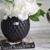 LENE BJERRE Ceramic pot 16cm black