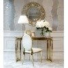 Lustro dekoracyjne w stylu nowojorskim glamour złote ELISE