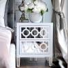 Nachttisch verspiegelte Kommode modern weiß New York Style Glamour OSKAR S [POSSIBLE] OUTLET