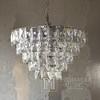 Żyrandol kryształowy glamour stalowy do salonu jadalni srebrny VERSUS