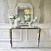 RARE SILVER glamouröser geometrischer Spiegel in einem silbernen Rahmen, 80x100