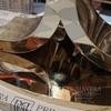 Stół glamour RITZ do jadalni złoty stalowy biały szklany lustrzany blat OUTLET