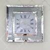 Wall clock PAOLA SILVER diamond mirrored 50x50 silver