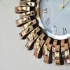 Round wall clock ENEA glamor gold 60cm