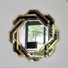 Mirror in black gold geometric frame DUNE GOLD BLACK 85x85 OUTLET