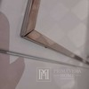 Glamour lacquered wooden chest of drawers on Lorenzo L Silver steel legs OUTLET
