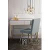 Konsola FRANCO glamour, toaletka nowojorska biało złota OUTLET