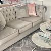 Sofa tapicerowana glamour nowojorska nowoczesna wygodna szara srebrna AVIATOR