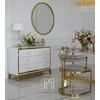 Glamour lackierte Holzkommode auf Stahlbeinen Lorenzo M Gold OUTLET