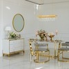 Komoda glamour lakierowana drewniana na stalowych nogach Lorenzo M Gold