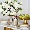 Esszimmer Glamour-Tisch Gold Stahl weiße Platte ART DECO