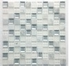 Stone and Glass Mosaic MAR 02 White Diamond