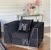 New York glamor upholstered armchair for MONTE CARLO living room