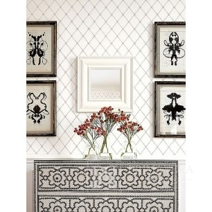 GEOMETRIC RESOURCE New York style geometric wallpaper American style white gray blue GREEN SILK RED Brown