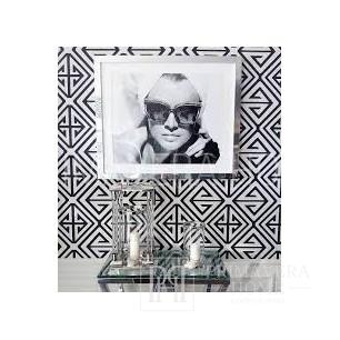 BRIDGE HAMPTON Tapeta geometryczna w stylu nowojorskim angielskim amerykańskim BIAŁA SZARA NIEBIESKA ZIELONA SREBRNA CZARNA CZERWONA ZŁOTA
