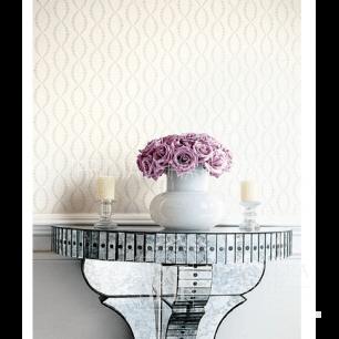 GEOMETRIC RESOURCE Tapeta geometryczna w stylu nowojorskim angielskim amerykańskim BIAŁA KREMOWA NIEBIESKA ZŁOTA