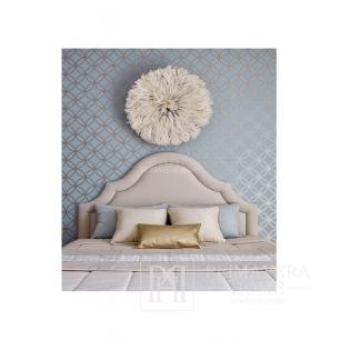 GEOMETRIC RESOURCE Tapeta geometryczna w stylu nowojorskim  do sypialni angielskim amerykańskim BIAŁA CZARNA SZARA ZŁOTA SREBRNA