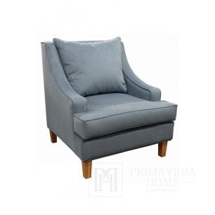 Fotel tapicerowany krzesło styl modern classic nowoczesny Brandon