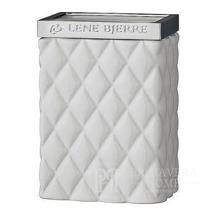 White Portia tumbler Lene Bjerre brush container