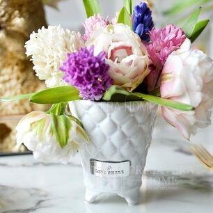 White ceramic pot Precious Flower Lene Bjerre 12 cm