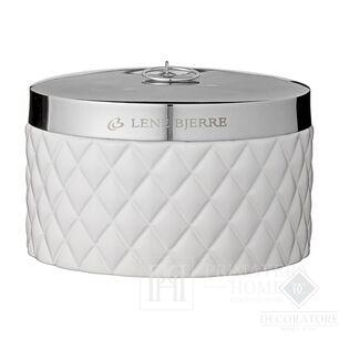 Cotton swab container white Portia jar white Lene Bjerre