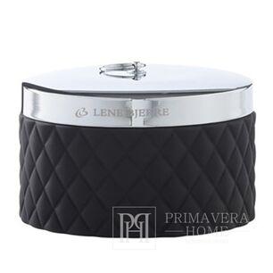 Cotton swab container black Portia jar black Lene Bjerre