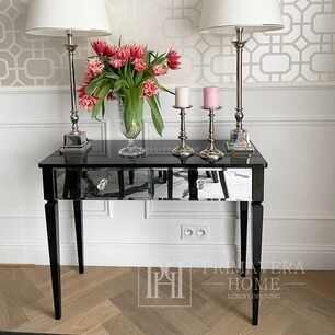 Glamour mirror console New York black white Diamond