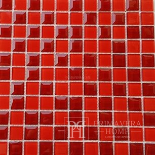 Diamond glass mosaic Red Kristina
