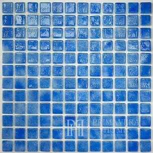 Blue Glass Mosaic Blue