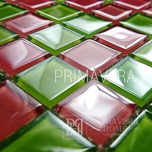 Glass mosaic pink green mix Melissa