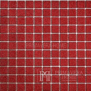 Glass mosaic with brocade RED Juliet