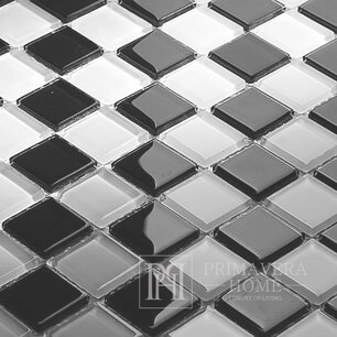 Black mosaic White Diana high gloss