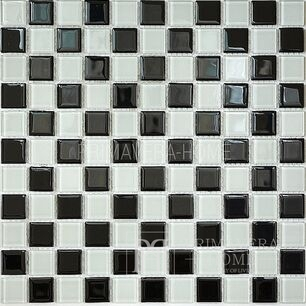 Glass mosaic Black and White Aleksandra SZACHOWNICA