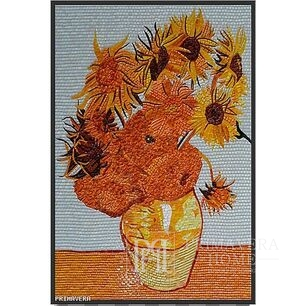 Glass mosaic Van Gogh Sunflowers