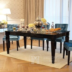 Glamour wooden black folding table for Diamond dining room