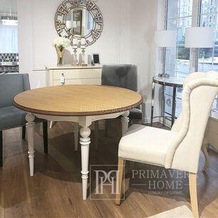 Stół glamour rozkladany drewniany dębowy blat Allen