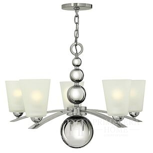 Żyrandol srebrny glamour chrom ZEPFIR
