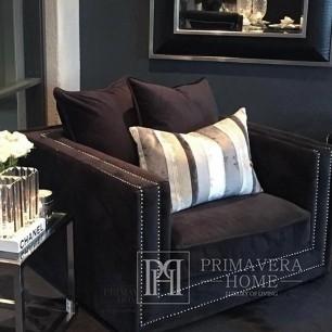 Glamour armchair upholstered modern NERO