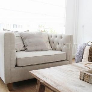 Fotel  tapicerowany pikowany nowoczesny MORIS