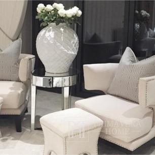Fotel uszak tapicerowany w stylu amerykańskim nowojorskim BOSTON