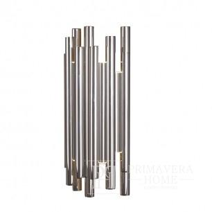 Kinkiet srebrny lampa ścienna chromowany nowoczesny w stylu glamour Ponsacco