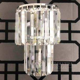 Kinkiet srebrny lampa ścienna kryształowy glamour nowojorski srebrny GLAMOUR XS