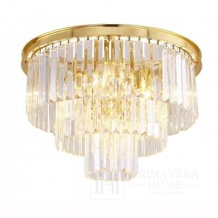 Kryształowy plafon złoty glamour okrągły z kryształkami GLAMOUR 50 cm GOLD