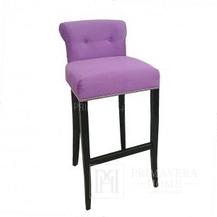 Krzesło barowe tapicerowane, hoker glamour z kołatką LARGO