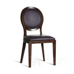 Krzesło glamour SOLO tapicerowane drewniane, nowoczesny styl 50x47x97